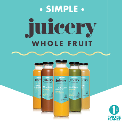 At Simple are serious about natural local ingredients, no added sugar, glass packaging, and minimising their harm to the environment